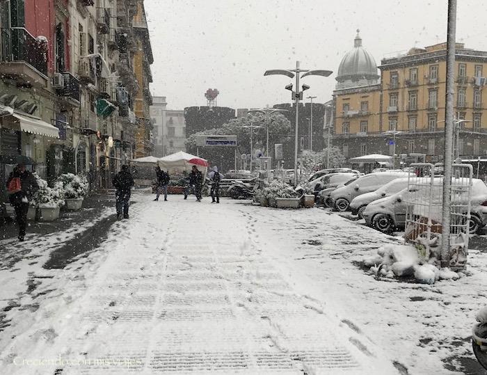 nevada en Nápoles - marzo 2018