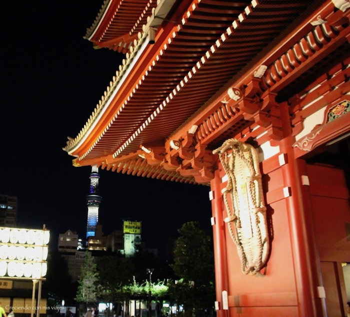 me encantan los contrastes de Japón. El santuario en primer plano y la Skytree al fondo