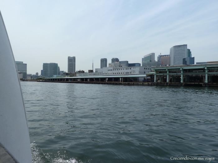 pasamos frente al edificio de la lonja de pescado de Tsukiji