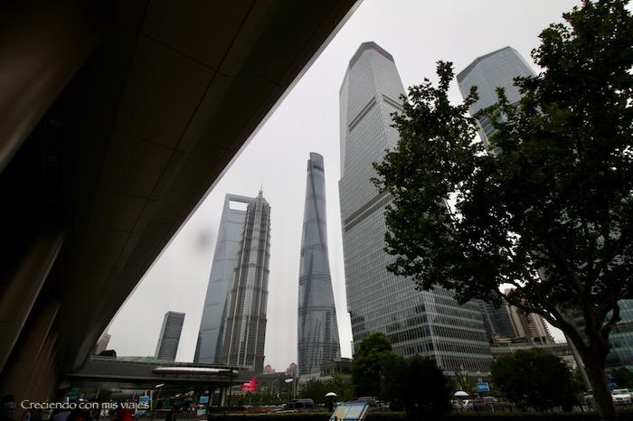 rascacielos del Pudong de Shanghai