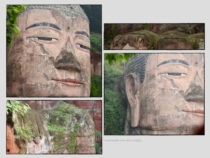 detalles del Gran Buda de Leshan - Buda de Leshan