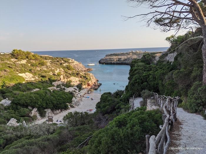 Cala Binidalí en Menorca