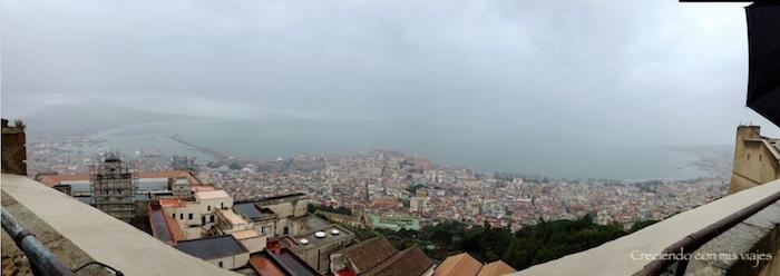 vista panorámica de Nápoles desde el Castel de Sant'Elmo