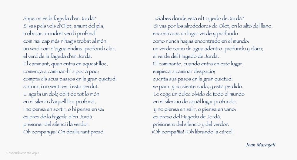 Poema Maragall Fageda - La Fageda d'en Jordà