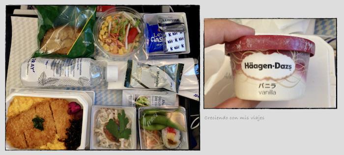 comida del vuelo Haneda Munich ANA - Vuelta de Japón con sorpresa en Múnich