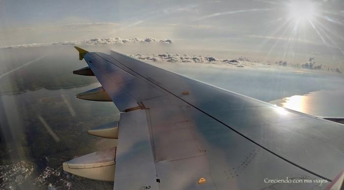 volando sobre las Baleares
