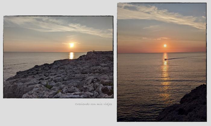 Mirador de Binidali al atardecer - Cala Binidalí en Menorca