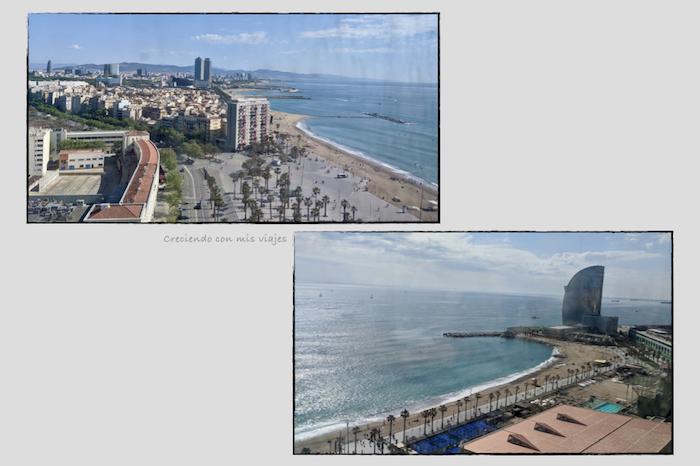 vista de la costa de BCN desde el teleférico del Port.002 - Teleférico del Puerto de Barcelona